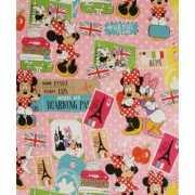 Kadopapier Minnie Mouse op reis