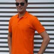 Oranje poloshirt 100% katoen