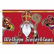 Gevel vlag welkom Sinterklaas