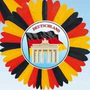 Decoratie waaier Duitsland 60 cm
