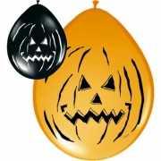 Ballonnen Halloween zwart en oranje