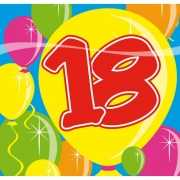 Servetten 18 jaar feest