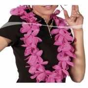 Luxe roze hawaii krans