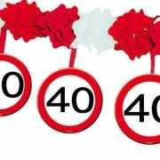 40 jaar slinger met stopborden