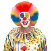 Kleurige clownspruik volwassenen