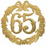 Jubileum cijfer 65 jaar