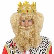 Luxe koning pruik met baard