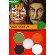 Halloween Schminkset oranje/groen/bruin/wit