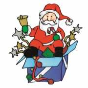 3 stuks kerst raamstickers