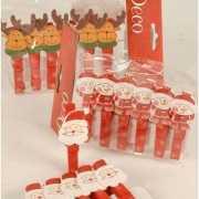 Kerst knijpertjes met kerstfiguren