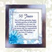 Spreuk in lijstje 50 jaar
