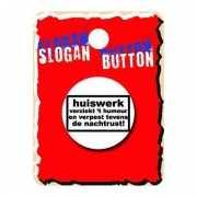 Grappige button huiswerk