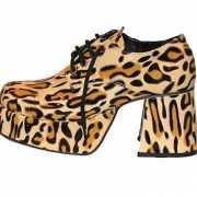 Luipaard print plateau schoenen voor heren