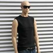 Sleeveless shirt Tarell zwart