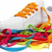 Oranje schoenveters Mr  Lacy
