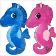 Pluche blauw zeepaardje 50 cm