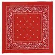 Rode boeren zakdoek 50 x 50 cm