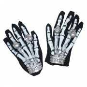 Halloween Skelet handschoenen met licht