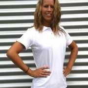 Dames poloshirt wit