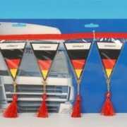 Mini vlaggenlijn Duitsland 60 cm