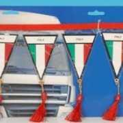 Mini vlaggenlijn Italie 60 cm