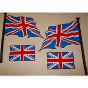 Sticker set van de Engelse vlag