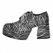 Zebra schoen met plateau zolen