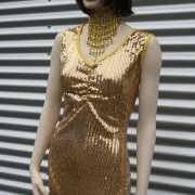 Gouden pailletten jurkje voor dames