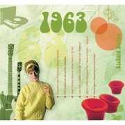 Historische verjaardag Cd kaart 1963