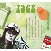 Historische verjaardag Cd kaart 1968
