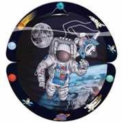 Ronde space lampion met astronaut