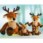 Pluche rendier knuffel Woody 27 cm
