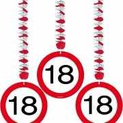 Rotorspiralen 18 jaar verkeersborden 3 stuks