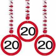 Rotorspiralen 20 jaar verkeersborden 3 stuks