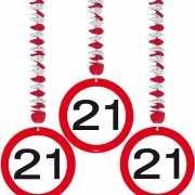 Rotorspiralen 21 jaar verkeersborden 3 stuks