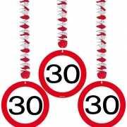 Rotorspiralen 30 jaar verkeersborden 3 stuks