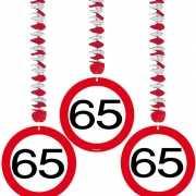 Rotorspiralen 65 jaar verkeersborden 3 stuks