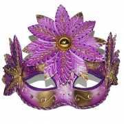 Roze fleurig oogmasker