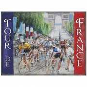 Mini muurplaatje Tour de France 15x20cm