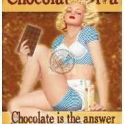 Mini muurplaatje Chocolate Diva 15x20cm