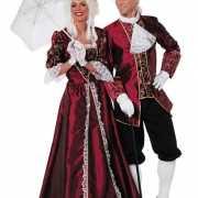 Markiezin kostuum bordeaux voor dames