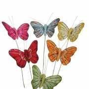 Decoratie vlinders 5 cm