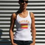 Witte dames tanktop Spanje