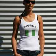 Witte dames tanktop Nigeria