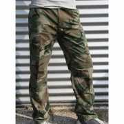 Camouflage broek 100  katoen