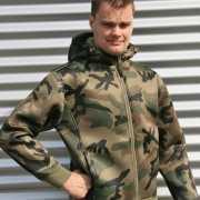 Vest met camouflage print