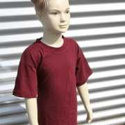 Kinder t shirt bordeaux rood