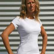 Dames t shirt ronde hals wit