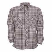 Trucker overhemd grijs geruit 100% katoen