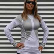 Craft thermo shirt wit met grijs voor dames